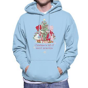 Holly Hobbie Christmas Sweet Memories Men's Hooded Sweatshirt