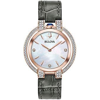 ブローバ 98R268 女性&アポス;s ルバイヤットローズゴールドトーン腕時計