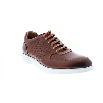 Zanzara Augsburg  Mens Brown Leather Lifestyle Sneakers Shoes