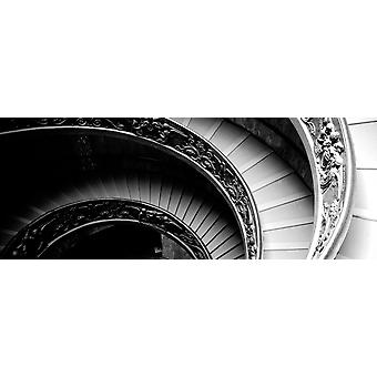 Stampa del manifesto di spirale scala Musei Vaticani Roma Italia