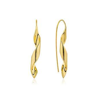 Ania Haie sterling zilver glanzend goud vergulde Helix haak oorbellen E012-02G