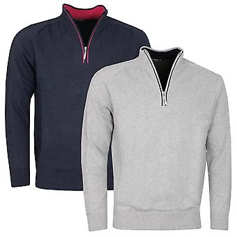 Glenmuir Mens 2021 Bothwell Touch of Cashmere Anti-Odour 1/4 Zip Golf Sweater
