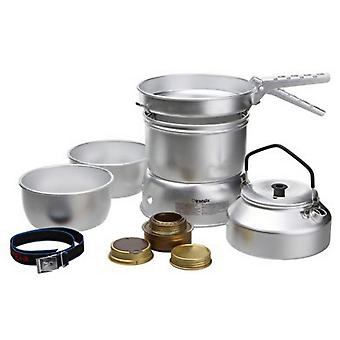 New TRANGIA Aluminium 25-2 Cooker & Kettle Camping Cooking Equipment Silver