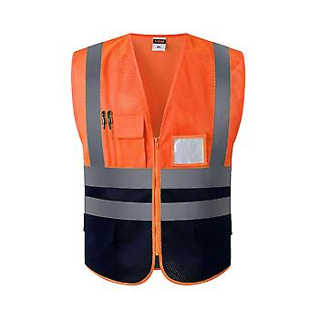 High Strip Visibility Utility Safety Vest Mesh Breathable Work Gilet Reflective