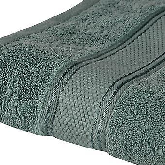 Asciugamano Doccia Colore Verde in Cotone, L90xP140 cm