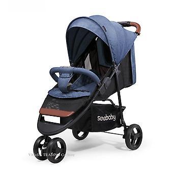 Lightweight Baby Jogger, Quick Fold Kids Stroller, Four-wheel, Shock