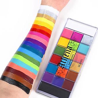 20 Colors Safe Cosmetic Flash Tattoo Painting Art - Halloween Party Makeup,