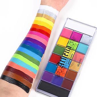 20 cores seguras cosméticos flash pintura pintura arte - maquiagem de festa de Halloween,
