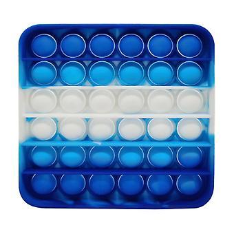 الاشياء المعتمدة ® البوب ذلك - تململ مكافحة الإجهاد لعبة لعبة لعبة سيليكون مربع الأزرق والأبيض