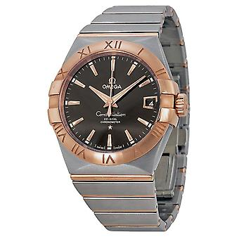 Omega Constellation Automatic Brown Dial Stainless Steel Rose Gold Men's Watch 12320382113001