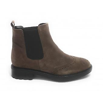 Women's Elite Ankle Boots Beatles In Suede Taupe D21el06
