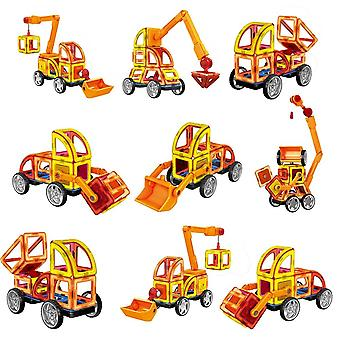 88pcs Large Size Magnetic Building Block Design Imagination Building Set