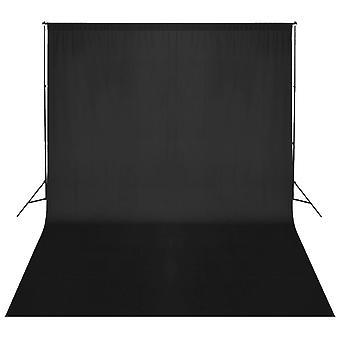 vidaXL Valokuvan taustajärjestelmä 500 x 300 cm Musta