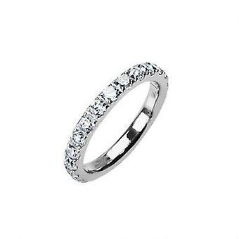 Massiv titanium jeweled ring