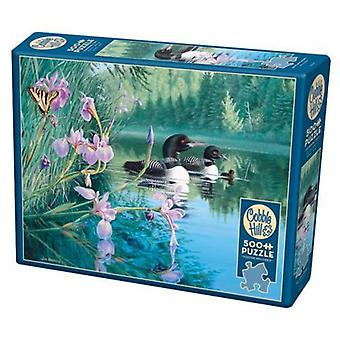 Cobble hill puzzle - iris cove loons - 500 pc