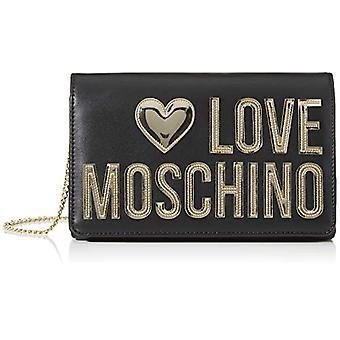 Love Moschino Jc4248pp0a, Women's Day Clutch, Black Calf, 7x13x22 cm (W x H x L)