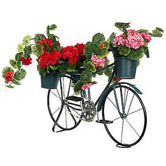 Flower stand blue bicycle - 3 flower pots