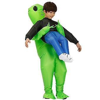Lapsille ulkomaalainen puhallettava vaatetus, aikuisille lapsille hauska Halloween-asut cosplay az5742