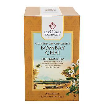 חברת הודו המזרחית - תה שחור בומביי צ'אי של המושל אונג'יר (20 שקיקי תה שקית בודדים)