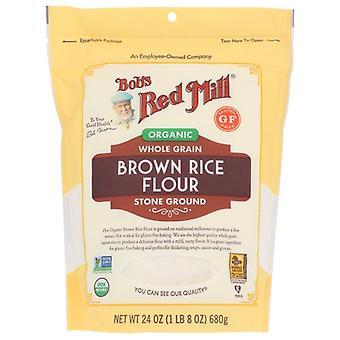 Bobs Red Mill Flour Rice Brown Org, Fall av 4 X 24 Oz