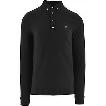 Farah Black Ricky Polo Shirt