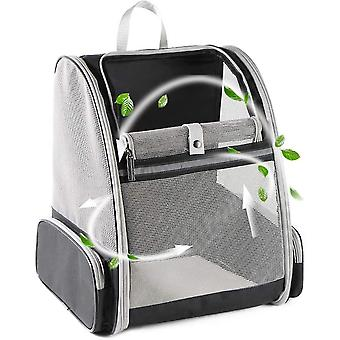 Pet Backpack Carrier For Small Cats Dogs, Ventilated Design, Safety Straps(Black)