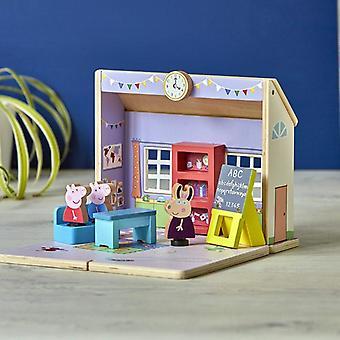 Leikkisetti Bandai Peppa Pig Esikoulu Wood (26 x 23