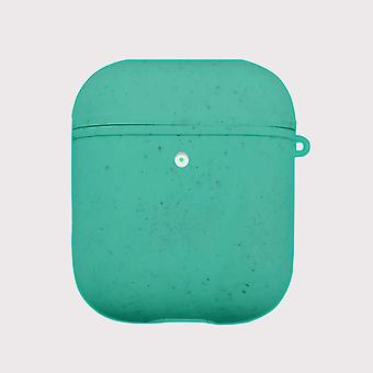 Green eco friendly airpods case