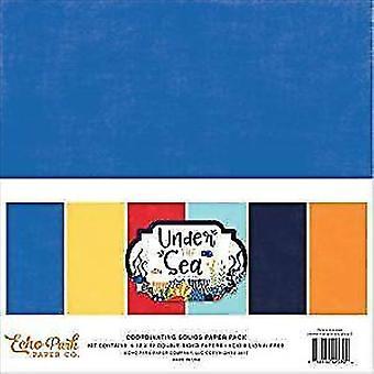 Echo Park Papier unter dem Meer 12 x 12 Zoll-Koordination Feststoffe Papier Pack (US131060)