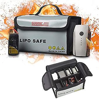 Lipo Battery Bag Fireproof Safe Bag Safe Guard Explosionproof Pouch Sack For Lipo Battery Charge And Storage 7.87x4.33x5.9inch
