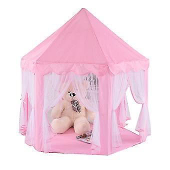 Девушки играют палатка Крытый Принцесса замок Дети Палаточный дом Розовый