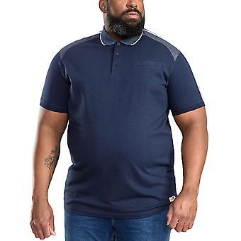 Duke D555 Mens Burgate Big Tall Kingsize Tipped Collar Polo Shirt Top - Navy