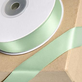 25m Mint Green 23mm Wide Satin Ribbon for Crafts