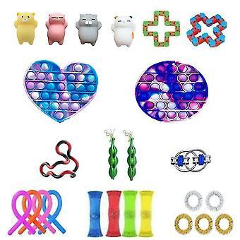 25pcs Push Pop Bubble Kunststoff Fidget Spielzeug Stress Entschnapp set