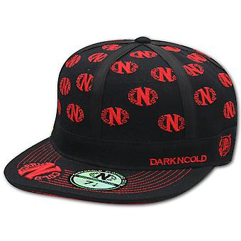 Darkncold Multi Logo Fitted Baseball Cap Black Red