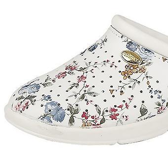 DEK Womens/damer blommig belagd läder täppa