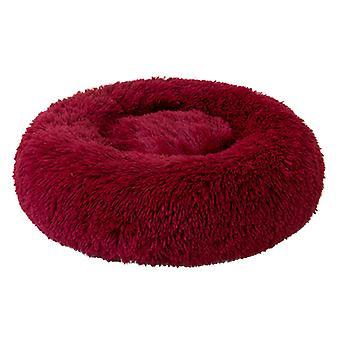 Košová rohož pro psa a kočku, kulatá plyšová zimní postel, rohož pro velké štěně a kotě, vnější průměr 40 cm, výška cca 16 cm, hmotnost 0,40 kg (vč.