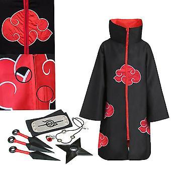 Akatsuki Uchiha Itachi Anime Cosplay Unisex Costume Ninja Naruto Cloak Cosplay!