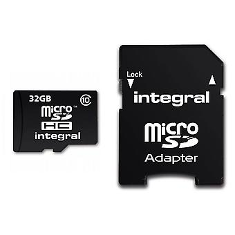 Integral UltimaPro 32 GB Class 10 MicroSDHC Memory Card (INMSDH32G10)