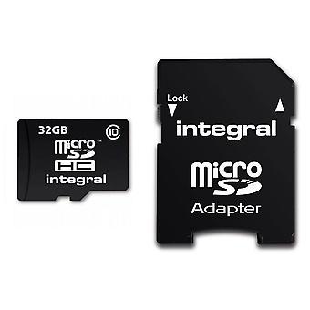 積分 UltimaPro 32 GB クラス 10 の MicroSDHC メモリー カード (INMSDH32G10)