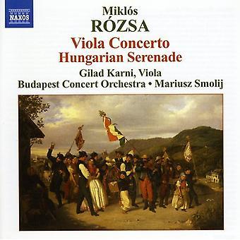 M. Rozsa - Mikl S R Zsa: Concerto per Viola; Importazione USA Serenata ungherese [CD]