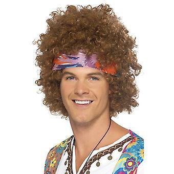 Hippie Afro Braun med huvudduk