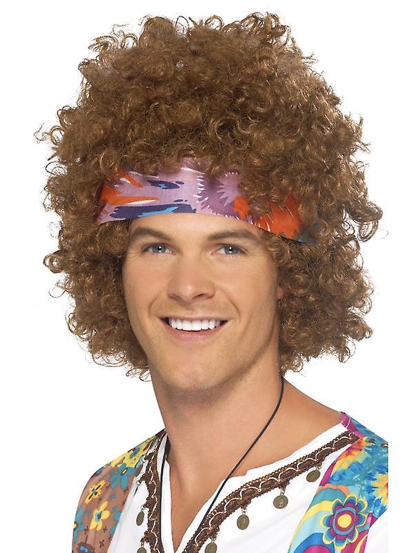 Hippie Afro Braun med tørkle
