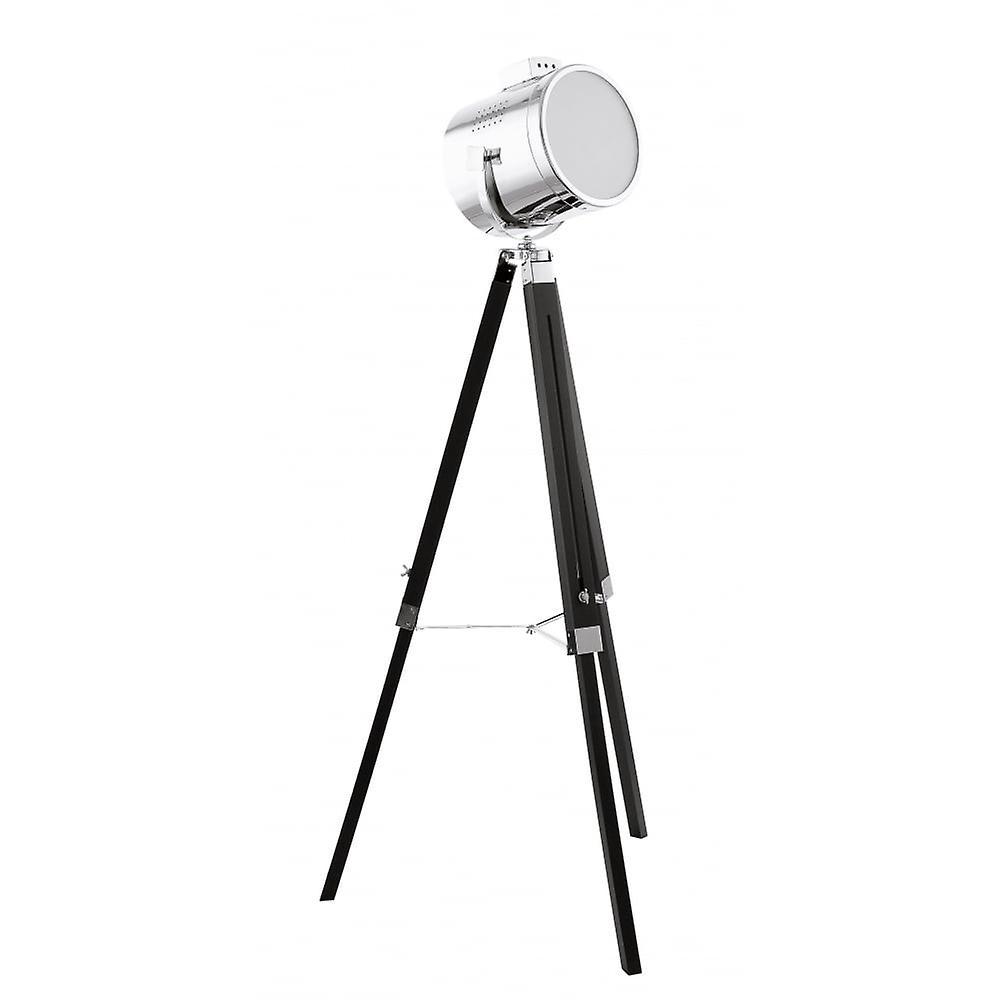 Eglo Black og Chrome søk lampe stativ flom Standard