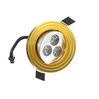 I LumoS High Quality Epistar 3 Watts Gold Rings Aluminium Warm White LED Tiltable Recessed Spot Down light