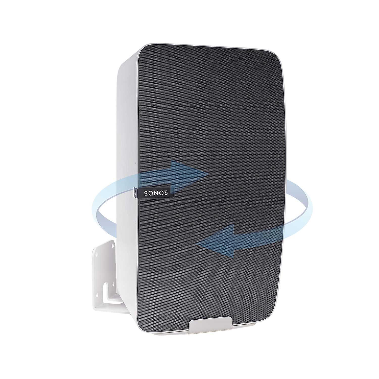 Vebos wall mount Sonos Play 5 gen 2 rotatable white - vertical