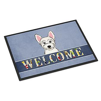 Carolines Treasures  BB1412MAT Westie Welcome Indoor or Outdoor Mat 18x27