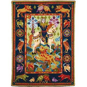 Lion Hunt Wallhanging Needlepoint Kit