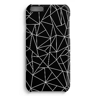 iPhone 6 Plus Full Print Fall (glänzend) - geometrische Linien weiß
