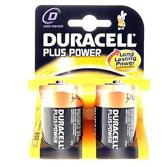 Duracell Plus Type D Twin Pack
